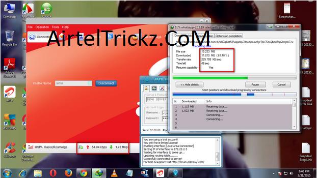 [Andhra Pradesh Users] Airtel 3G High-Speed UDP Trick April 2015 [Working]