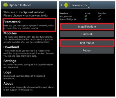 Install-xposed-framework
