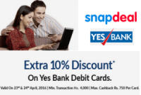 Snapdeal-yes-bank-get-10-extra-discount-on-everything-23-24th-april